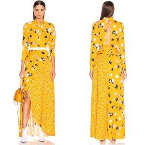 Self-Portrait 2019 Floral Print Twist Neck Dress